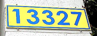 Titanium Address Sign